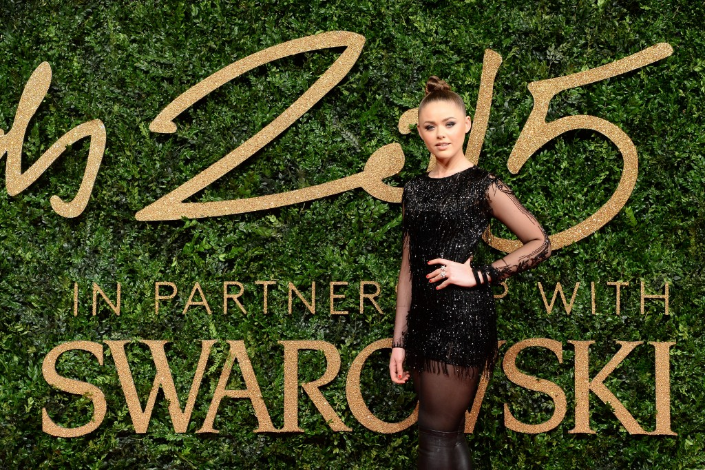 Guest at the British Fashion Awards in partnership with Swarovski