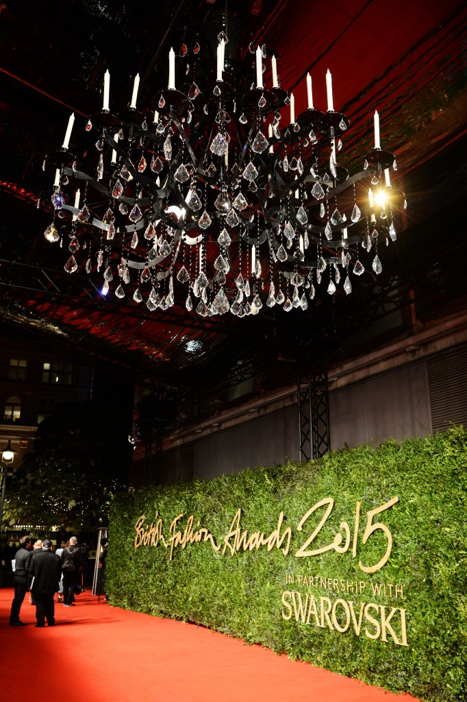 Swarovski 'Science and Fiction' chandelier and Red Carpet